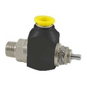 """Clippard CR-GTV-2Q-P12 Cr 2-Way Toggle Valve, 1/4"""" NPT, 3/8"""" Push-Quick Fitting, Corrosion-Resistant Materials from Clippard"""