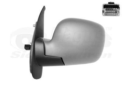 Retrovisor eléctrico izquierdo gris metálico para Renault Kangoo 08 hasta 13