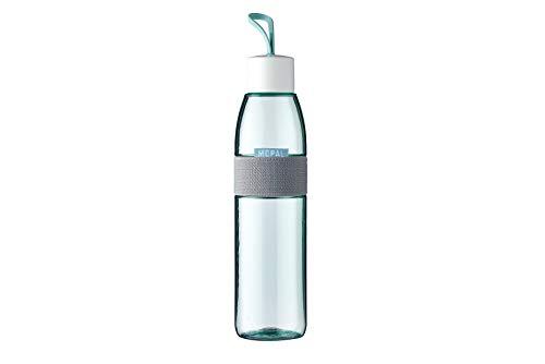 Mepal – Trinkflasche Ellipse Nordic green – 700 ml Inhalt – auch für kohlensäurehaltige Getränke – bruchfestes Material - auslaufsicher - Spülmaschinengeeignet