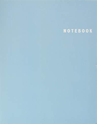 Notebook: Unlined/Plain Notebook - Large (8.5 x 11 inches) - 106 Pages || Pastel Blue Softcover