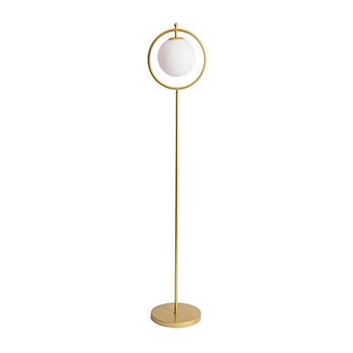 Lampe sur pied Ronda de pantalla de cristal Sala de estar Sofá Estudio de lujo Lámpara de pie Nordic Light Classic dormitorio de noche Caliente vertical creativo moderno de la lámpara de mesa,Lampes