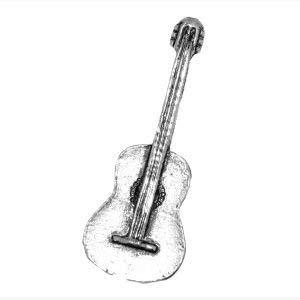 Pin de estaño con diseño de guitarra española