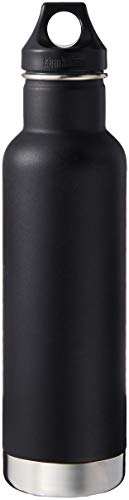 Klean Kanteen Classic Stainless Steel Double Wall Insulated Water Bottle with Loop Cap, 64-Ounce, Shale Black