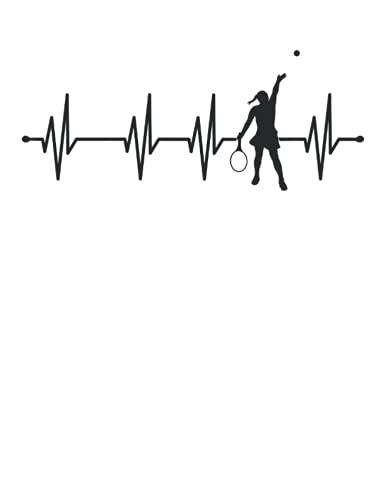 Latido del corazón tenis: Cuaderno   Puntos, Carta (21,59 x 27,94 cm), 120 páginas, papel crema, cubierta mate