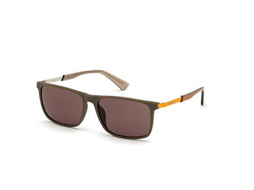 Diesel Eyewear DL0312 Gafas, Matte Dark Brown/Brown, 57 Unisex Adulto