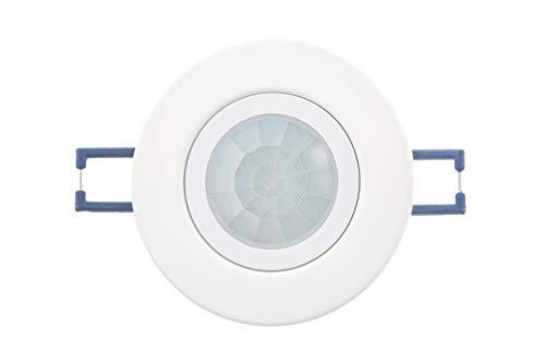 HUBER MOTION 22, Bewegungsmelder 360°, weiß, einbau, unterputz, energieeffizient, PIR Bewegungsmelder, flache Linse, kann auch in GU10 Fassung eingesetzt werden