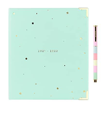Takenote - Jade - Agenda Planner Académico 21- 22- Semana Vista - Dietario Castellano e Inglés -224 páginas - 22 x 19 cm - 12 separadores mensuales- Incluye Bolígrafo y Pegatinas