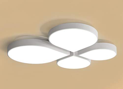 Home mall- Plafond de plafond de chambre à coucher de fer 27W / 32W / 45W personnalisé lumière blanche créative de la maison des enfants (Couleur : Blanc-60 * 55cm)