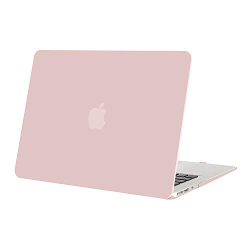 MOSISO MacBook Air 13 inch Case (Models: A1369 & A1466, Older Version 2010-2017 Release), Plastic Hard Shell Case Cover Only Compatible with MacBook Air 13 inch, Rose quartz
