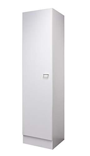 Flex-Well Hochschrank LUCCA | Geschirrschrank | 1-türig, 4 Fächer | Breite 50 cm | Weiß