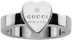 Gucci ring with the trademark engraved on a heart, size 10 YBC223867001