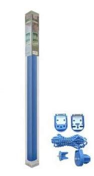 REAL STAR Estor Enrollable translúcido Liso (Azul, 135x180cm)