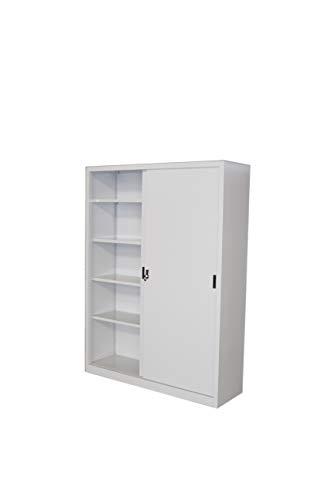 Armadio in Metallo Ufficio/Archiviazione Ante Scorrevoli Dim. 150x45x200h cm (150X45X200)