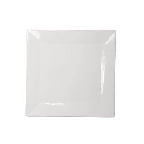 White Porcelain China Ceramic Saucer Bread Appetizer Kitchen Catering Restaurant Dinner - 7' Square White Dinner Plate (4)