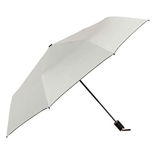 Mini Travel Umbrella, Black Compact Folding Umbrella, Small Light-Weight Waterproof Umbrella, Rain and Sun Umbrella for Women Men and Kids,White