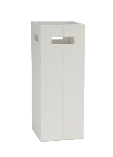Andrea AX62331 Schirmständer, Lederoptik, 21 x 21 x 55 cm, weiß
