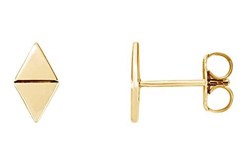AFFY Pendientes de plata de ley 925 chapados en oro de 18 quilates, minimalistas, delicados, para mujer y cumpleaños, sin piedra, sin perla,