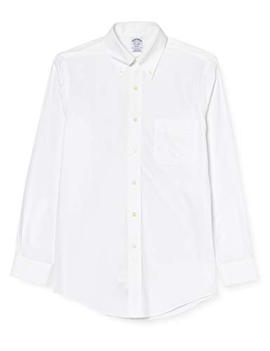 Brooks Brothers Camicia Regent Manica Lunga Chemise Business, Blanc (White 100), X-Large (Taille Fabricant: 17 35) Homme