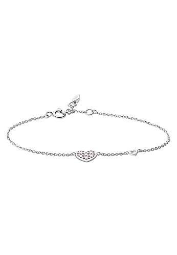 Fossil JFS00490040 Damen Armband Herzen Heart Cut Out Silber 19 cm