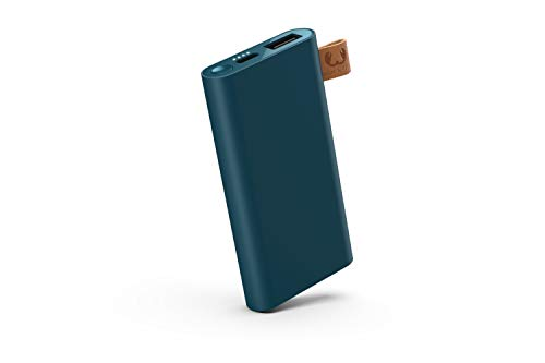 Fresh 'n Rebel Powerbank 3000 mAh USB-C | Cargador portátil/Battería Externa – 2 Puertos USB-C y USB – Azul Gasolina