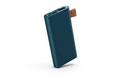 Fresh ´N Rebel Powerbank 3000 mAh USB-C | Tragbares Ladegerät/Externer Akku - 2-ports USB-C & USB für iPhone, iPad,Huawei,Samsung, Nexus, HTC und mehr – Petrol Blue