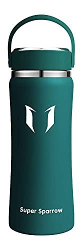 Super Sparrow Bottiglia, Borraccia in Acciaio Inossidabile, 500 ml / 750 ml / 1 L, Senza BPA, a Prova di Perdite, Bottiglia Termica per Sport, Scuola, Fitness, Outdoor, Campeggio