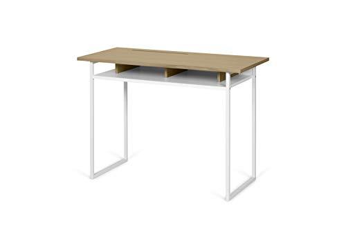 TemaHome Schreibtisch Bristol, Eiche hell und weiß, 110 x 50 x 78 cm