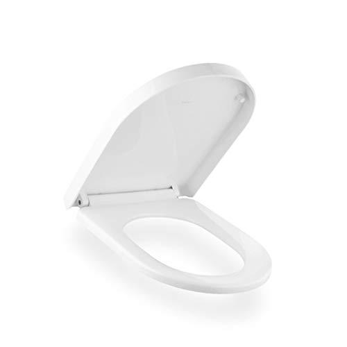 YQRJYB wit wit wc-bril PP plank wc-pot stille originele comfortabele wc-deksel gemakkelijk te reinigen U type