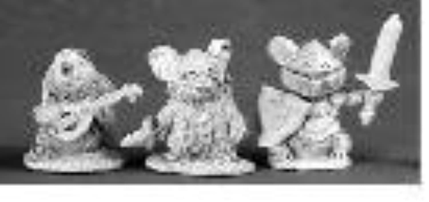 Mousling Heroes Bard, Thief, Knight Dark Heaven Legends Series by Reaper Miniatures
