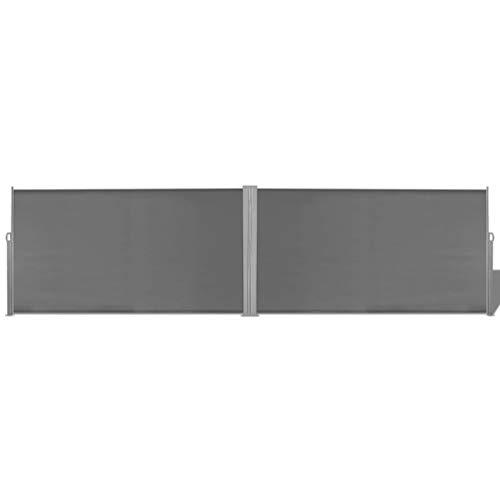 FAMIROSA Ausziehbare Seitenmarkise 160x600 cm Grau