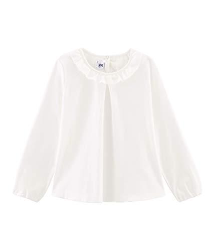 Petit Bateau Mädchen Tee Shirt ML_4964701 Langarmshirt, Weiß (Marshmallow 01), 104 (Herstellergröße: 4ans/104cm)