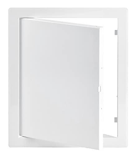 20x25 cm Revisionsklappe Wartungstür aus Metall - Revitür in weiß (200x250 mm)