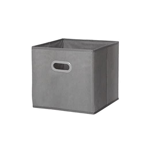 Hanpiyigzwl Contenitori Plastica, 1 Pz Quadrato Pieghevole Armadio Armadio Borse di stoccaggio Abbigliamento, (12.9x12.9x12.9in) Colore: Nero, Blu, Grigio, Verde, Bianco (Color : Gray)