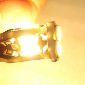 GHC LED Bombillas 10pcs T4W 12v Ba9s Bax9s LED Auto Bulbos de Canbus Brillante CC de 12 voltios 5730 10LEDs Lateral Auto señal de Vuelta de Freno del Bulbo de lámpara Blanco cálido