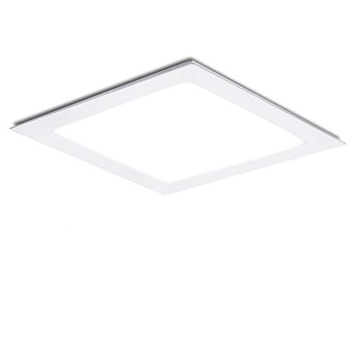 Greenice | Placa de LEDs Cuadrada 170Mm 12W 860Lm 30.000H | Lámpara LED | Downlight LED | Panel LED Techo | Oficina, Fábrica, Pasillos, Baños | Blanco Cálido