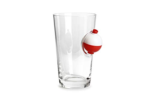 Barbuzzo Gone Fishing Pint Glass - 16 Oz Beer Tumbler with Fishing Bobber