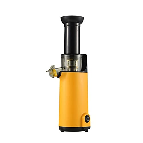 MATHOWAL Masticating Slow Juicer Cold Press Juicers Whole Fruit and Vegetable Easy Clean Juicer Extractor, Quiet Motor, Reverse Function, Juice Up to 400ML at a Time (Orange)