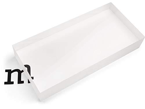 Modulor Acrylglas GS Block transparent farblos, vielfältig nutzbare Acrylglasplatte für Modellbau, Lichtobjekte uvm, 4 cm dicker transparenter Acrylblock in 12 x 25 cm