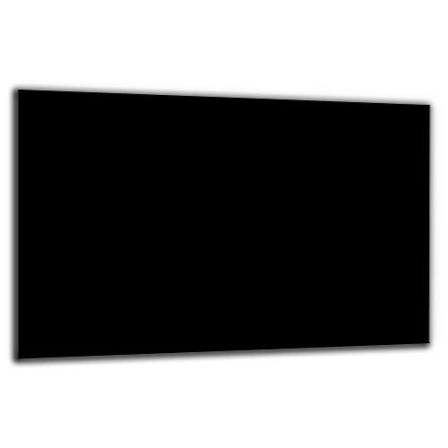 decorwelt | Herdabdeckplatte Schwarz 80x52 Ceranfeldabdeckung 1 teilig Universal Abdeckung Kochplatten Glas Induktion Herdschutz Deko Schneidebrett Spritzschutz