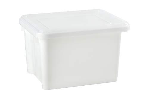 livinbox Stack & Next Caja de Almacenaje Contenedor Apilabl 7,5L - Blanco