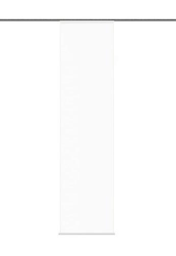 """Home fashion 87802-701 weiß Schiebevorhang \""""Rom\"""" Uni / 245 x 60 cm Halborganza"""