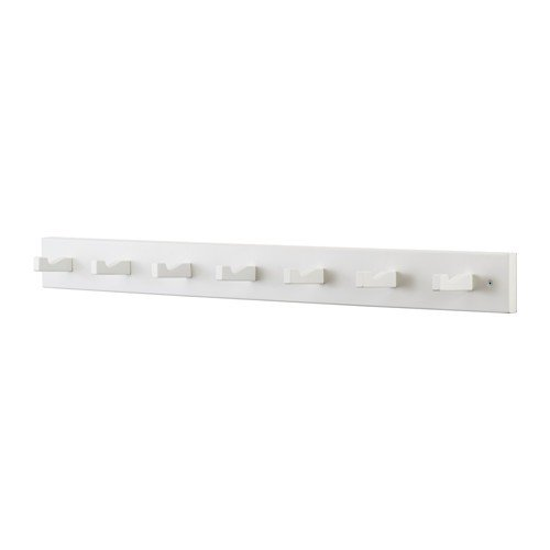 Ikea KUBBIS Leiste mit 7 Haken; in weiß; aus Massivholz