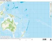 Mapa físico Oceanía (Mapas mudos)
