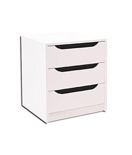 Cajonera para Armario, Completamente Montada, Frente Góndola, Color Blanco, 80 cm Ancho x 55 cm Fondo - 3 Cajones 16 cm. Alto 56,8 cm.