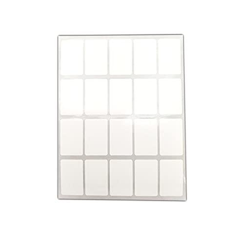 EUROXANTY Etiquetas Adhesivas Blancas   Multiusos   Autoadhesiva en Cualquier Superficie   Pack de 160 Etiquetas de 28x45 mm  