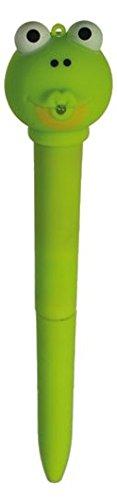 Générique Stylo Bille Animaux lumière et Son - Grenouille Verte