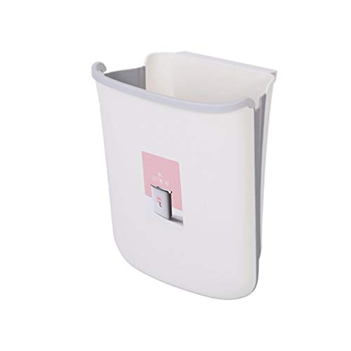 Best Deals! Yardwe Hanging Trash Can Collapsible Kitchen Garbage Bin Under Sink Over Cabinet Waste B...