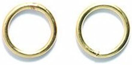 Shipwreck Beads Electroplated Brass 18-Gauge Solid Jump Ring, 8mm, Metallic, Satin Hamilton Gold, 8-Gram