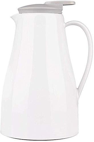 Thermos 1 grande tasse thermos capacité 304 ménage bouilloire vide en acier inoxydable 1.4L blanc kyman (Color : Plain White)