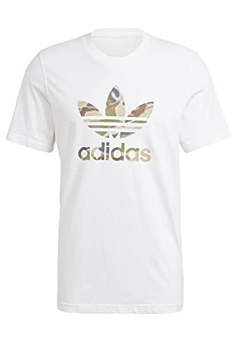 adidas GN1855 Camo INFILL tee T-Shirt Mens White/Wild Pine Mel/Multicolor L